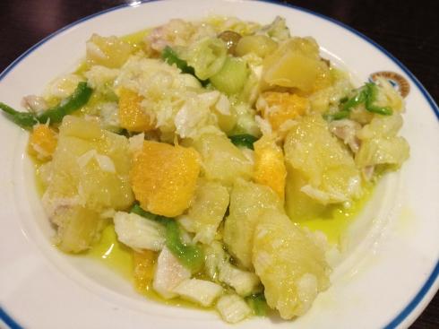 vissalade aardappel citrus Malaga