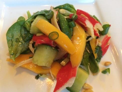 salade met krab en mango
